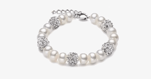 Silver And Pearl Bracelet