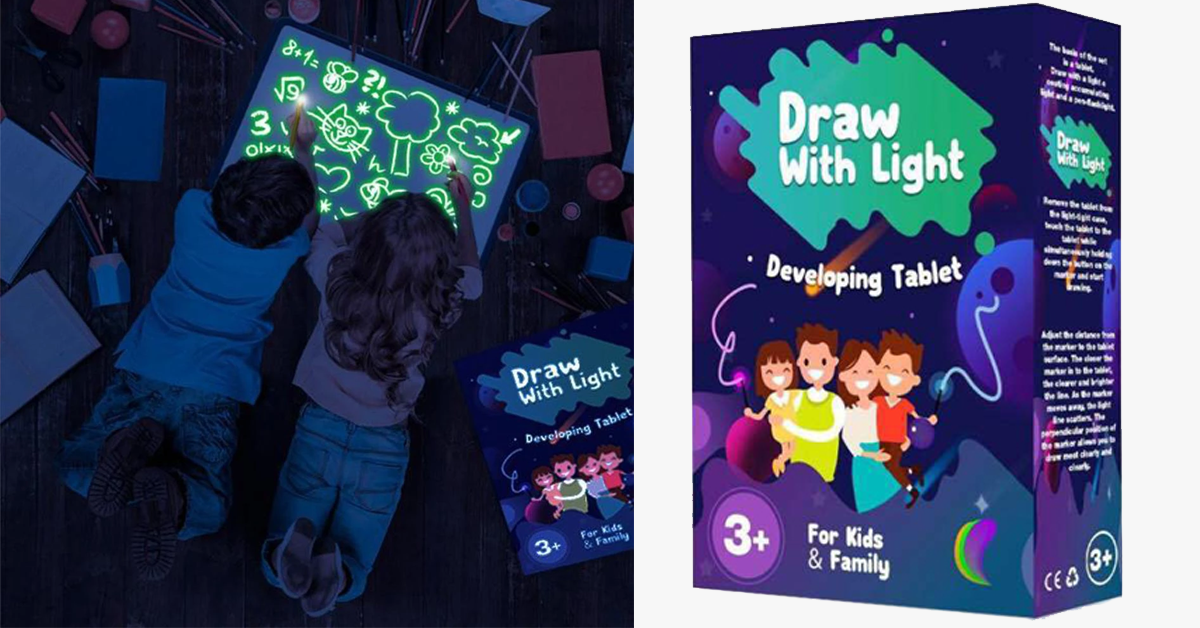Light Drawing Pad - Fun And Developing Toy