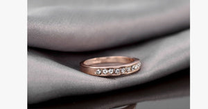 18k Rose Gold Plated Eternity Ring - FREE SHIP DEALS