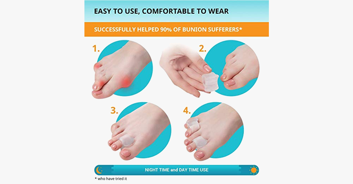 4-Pack Big Toe Gel Spacers