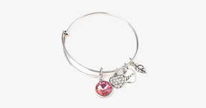 October Birthstone Charm Bangle - FREE SHIP DEALS