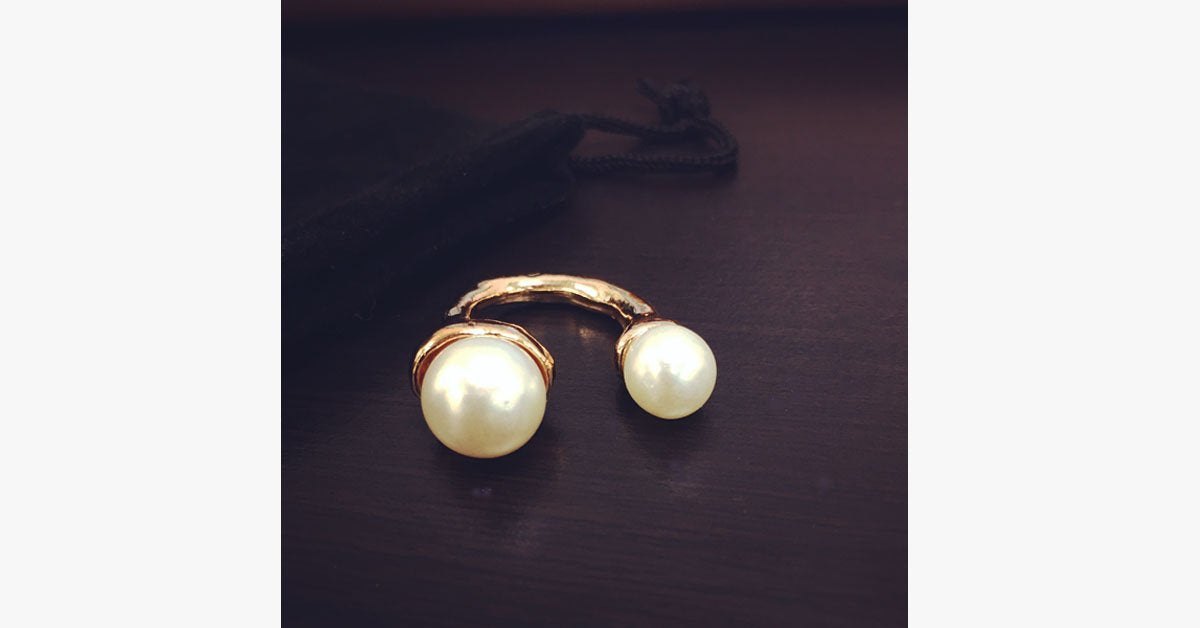 18K Pearl Ring - FREE SHIP DEALS
