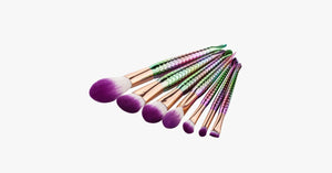 7 Piece Rainbow Mermaid Brush Set - FREE SHIP DEALS