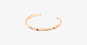 A Smooth Sea Never Made A Skillful Sailor Cuff Bangle - FREE SHIP DEALS