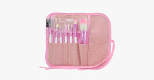 7 Piece Soft Pink Brush Set - FREE SHIP DEALS