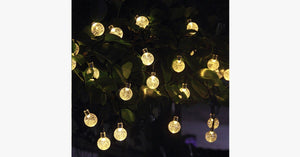 20 LED Solar-Powered Crystal Ball String Lights - FREE SHIP DEALS