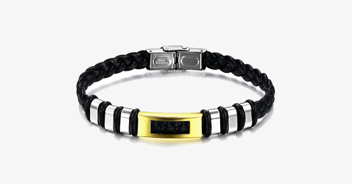 Golden Zebra Stainless Steel Men's Bracelet - FREE SHIP DEALS