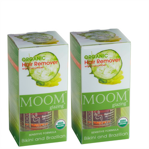 MOOM Glazing Organic Hair Remover with Cucumber Bikini and Brazilian (2 Pack)