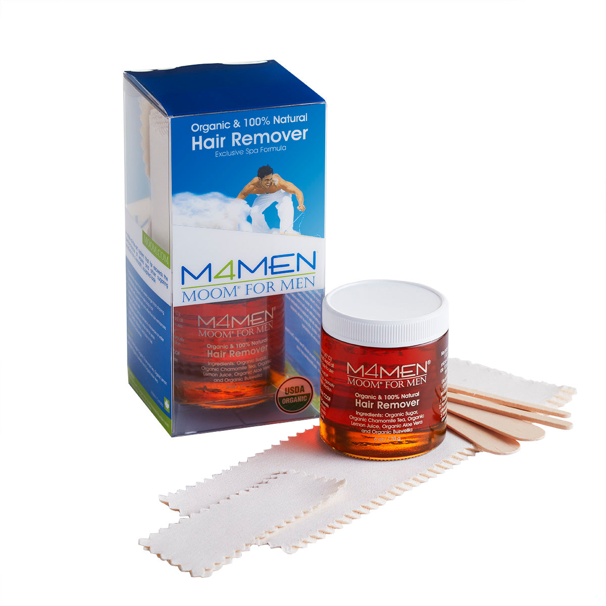 MOOM For Men Hair Removal System Kit (6oz)