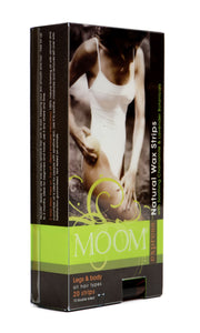 MOOM Express Pre-Waxed Strips for Legs & Body (2 Pack)