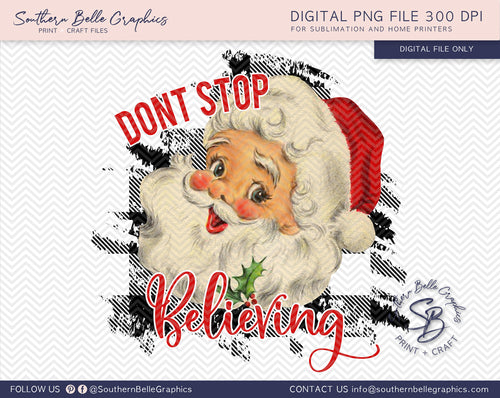 Don't Stop Believing Santa PNG File