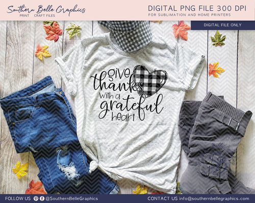 Give Thanks with a Grateful Heart PNG File