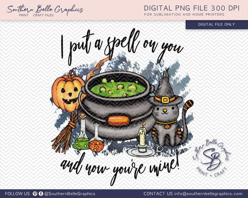 I Put a Spell on You, Hocus Pocus Halloween PNG File