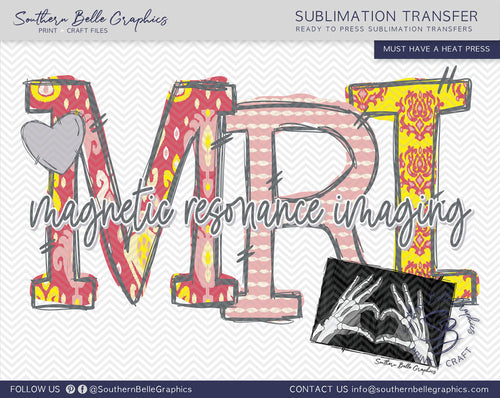 Magnetic Resonance Imaging - MRI Hand Drawn Sublimation Transfer