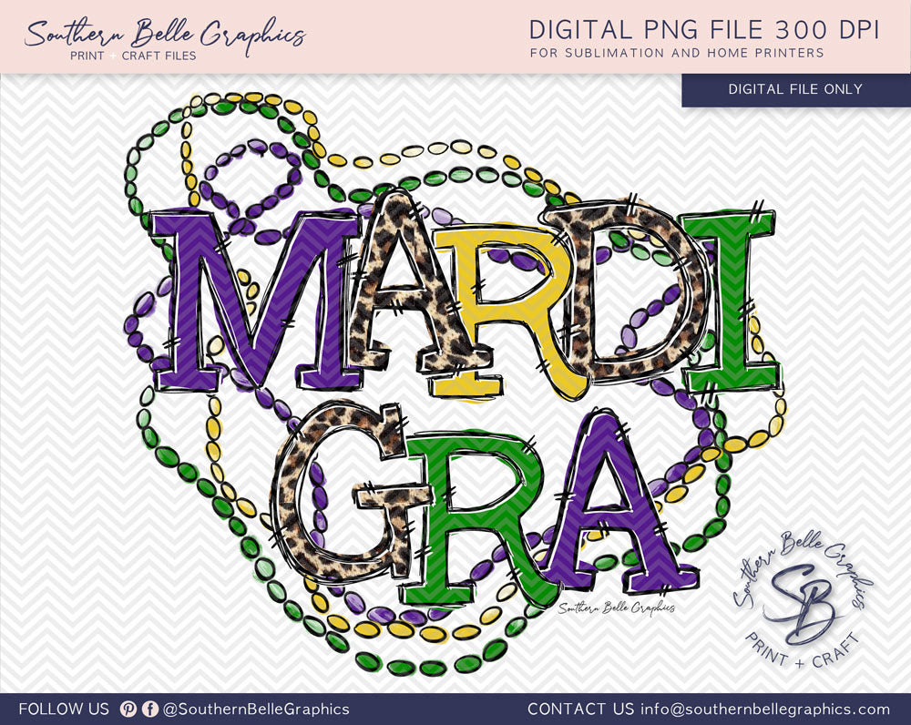 Mardi Gra Beads PNG File