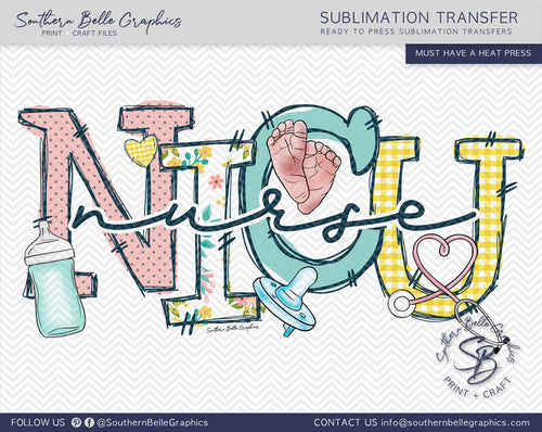 NICU NEONATAL INTENSIVE CARE UNIT SUBLIMATION TRANSFER