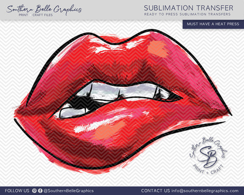 Lips Hand Drawn Sublimation Transfer