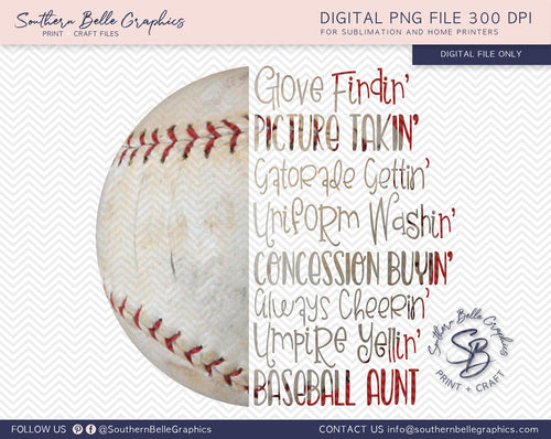 Baseball Aunt PNG File