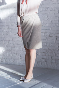 Tulip Yak Down Skirt - made-in-mongolia-cashmere
