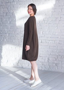 Balloon Shape Yak Dress - made-in-mongolia-cashmere