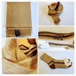 Unisex Scarf and Socks - 100% Organic Mongolian Camel Wool