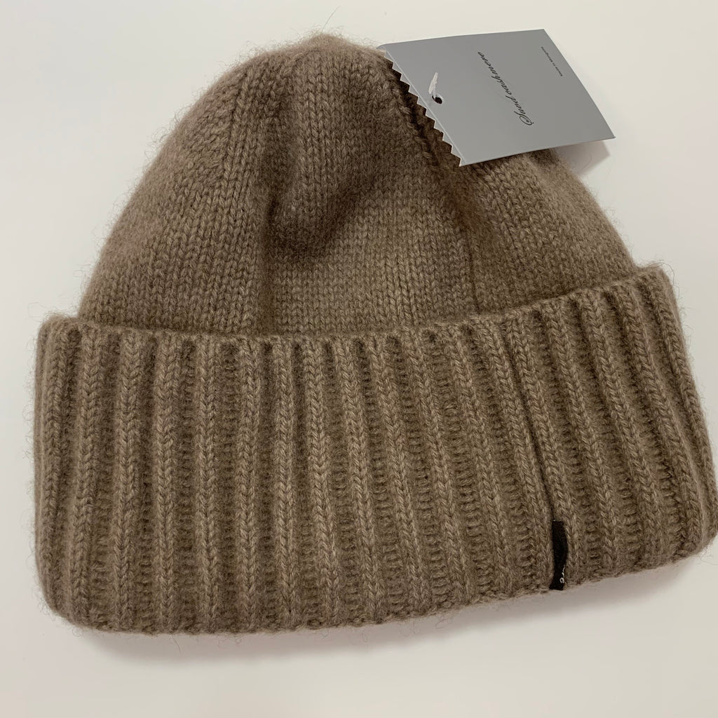 Unisex Rib-knit Cashmere Beanie / Hat - made-in-mongolia-cashmere