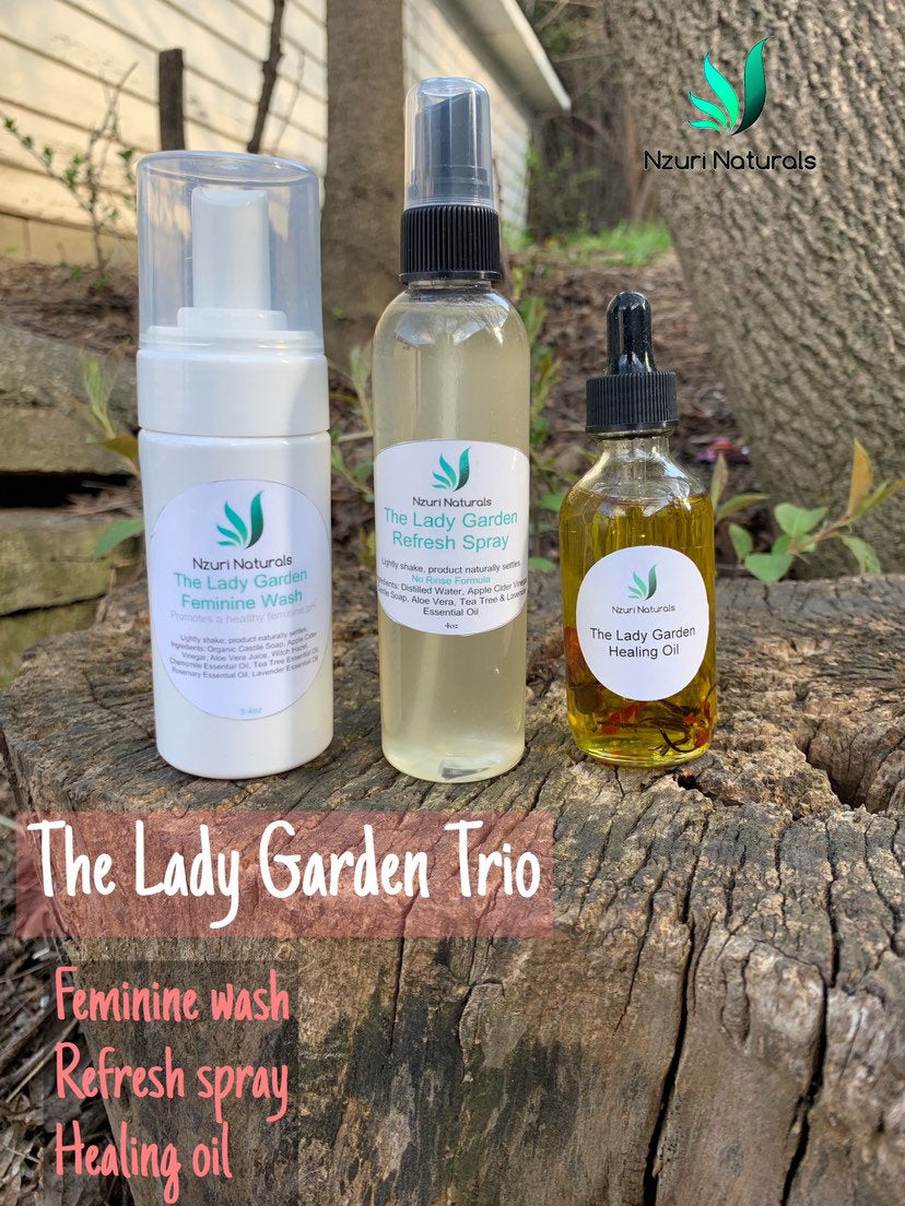 The Lady Garden Trio | feminine wash, refresh spray, yoni oil