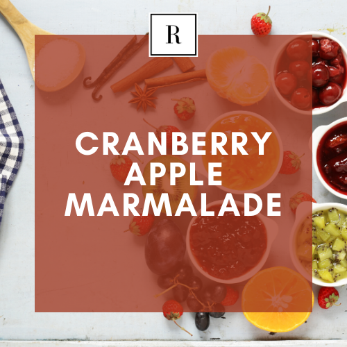 Cranberry Apple Marmalade - 100% All Natural | Soy Wax Scented Candle