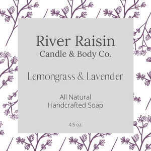 Lemongrass & Lavender - 100% All Natural | Handcrafted Soap
