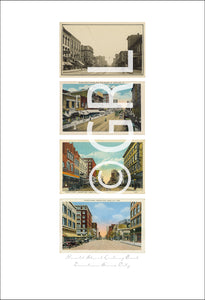 Downtown Sioux City Postcard Art Wall Decor