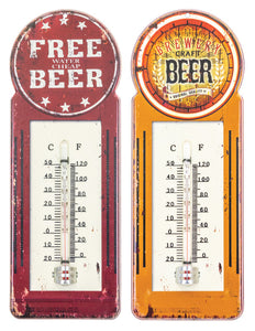 Free Beer or Craft Beer Thermometor for Home Decor