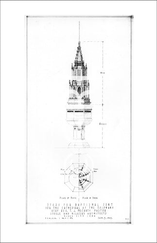 Drawing of the Proposed Baptismal Font for the Cathedral by William Steeele Wall Art
