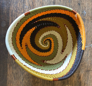 Fair Trade Small Triangle Telephone Wire Basket