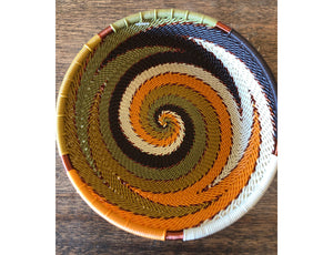 Fair Trade Small Round Telephone Wire Basket