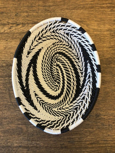 Fair Trade Small Oval Telephone Wire Basket