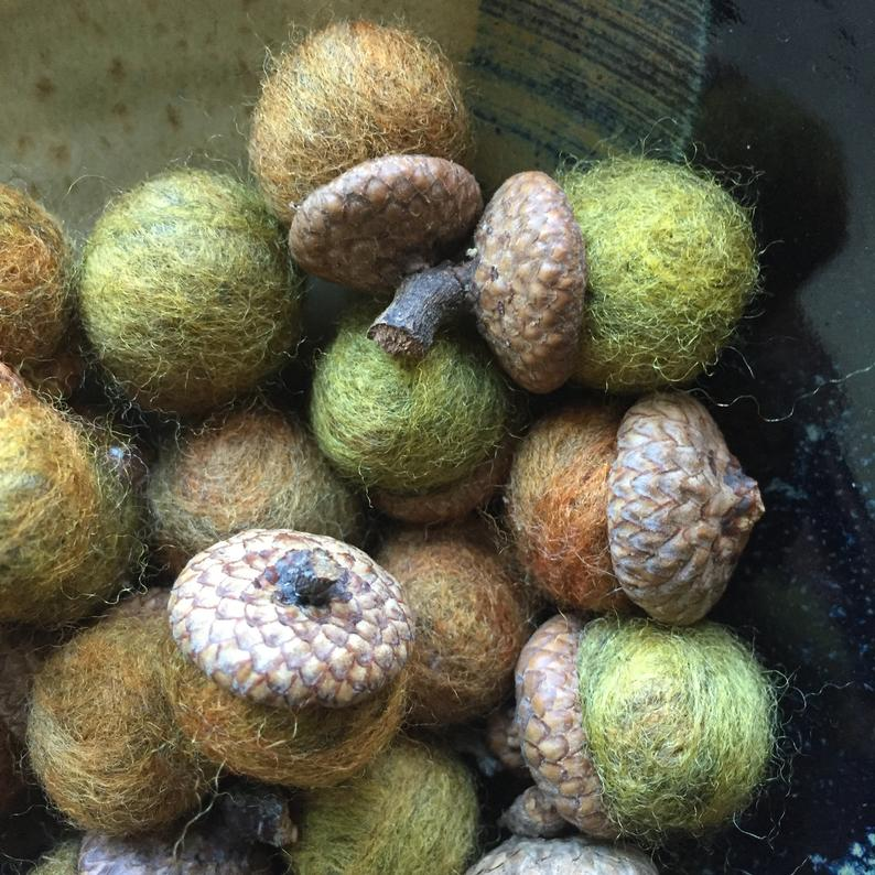 Hand-felted Acorn for Fall Home Decor