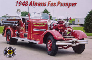 1946 Ahrens Fox Pumper Post Card