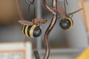 Wooden and Metal Bees for Home Decor