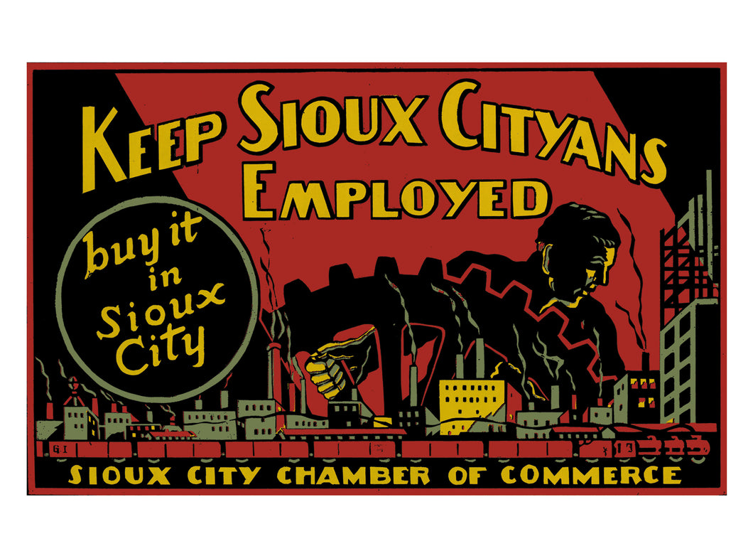 Keep Sioux Cityans Employed - Buy it in Sioux City Note Cards