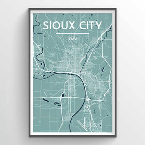 Sioux City Map Wall Decor