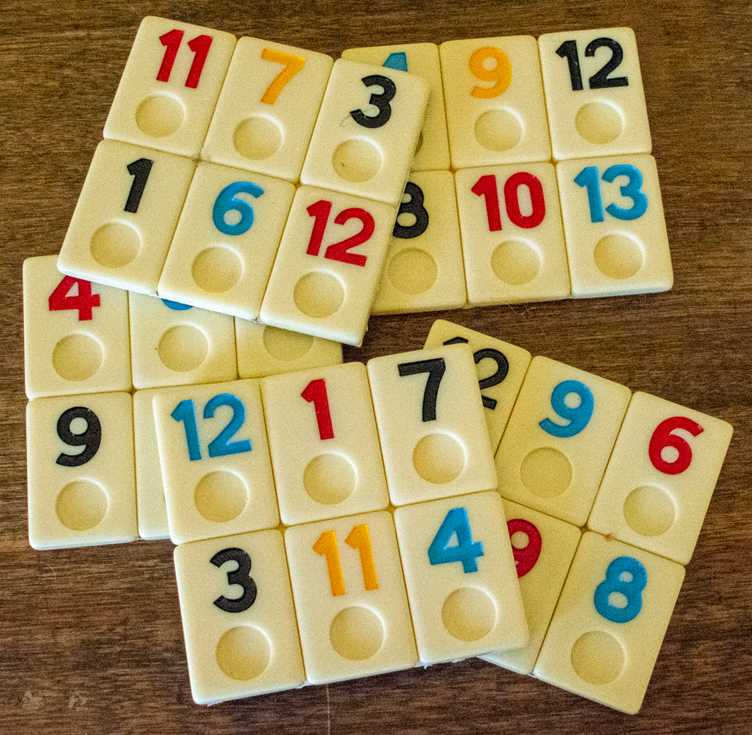 Coasters Made from Rummikib Game Pieces