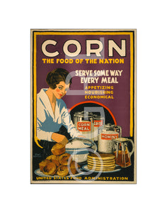 Corn the Food of the Nation US Food Administration Art Print Wall Decor
