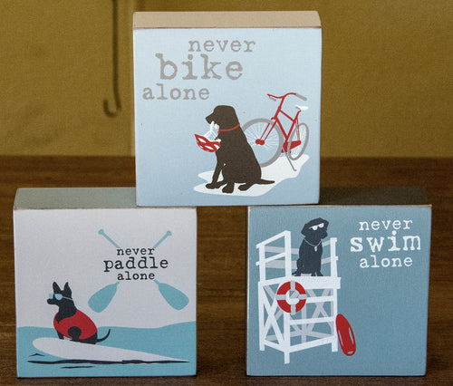 Standing Decor Wood Blocks to Celebrate Your Dog