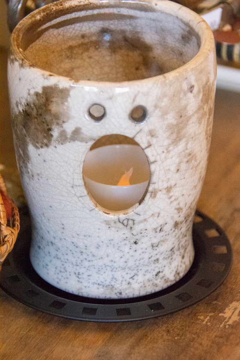 Chaeli Kohn's Raku Ghosts for Halloween Decorating