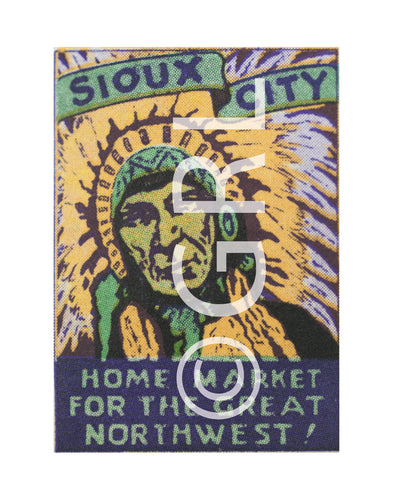 Sioux City Home Market of the Great Northwest Poster Stamp Art