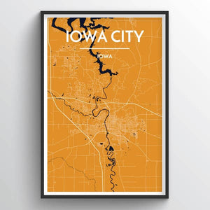 City Map Wall Decor - Sioux City, Ames, Omaha, Iowa City or Lincoln