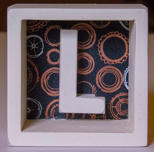 Letter L Box Sign Wall Decor CLOSEOUT