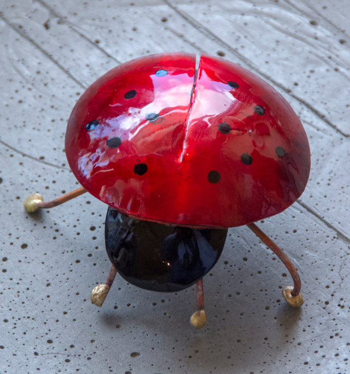 Hand Forged Copper Lady Bug Home Decor
