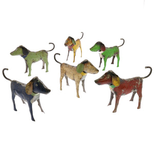Decorative Metal Dogs from Recycled Steel Drums for Home Decor