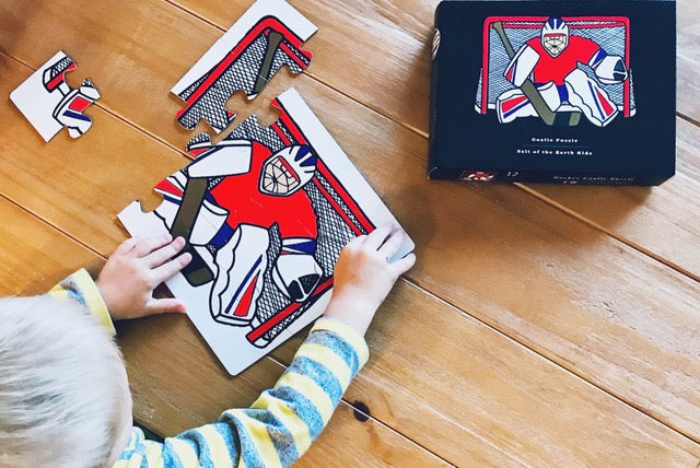 Salt of the Earth Kid's Hockey Goalie Puzzle